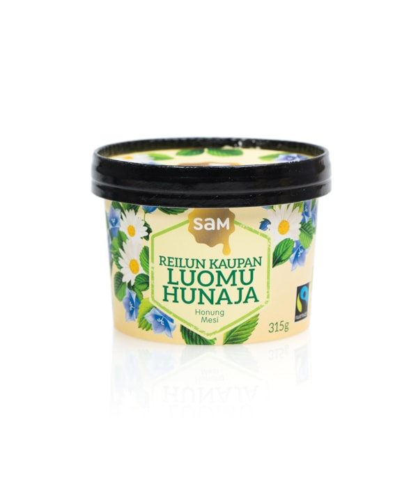 Hunajainen Sam | Suomen monipuolisin hunajavalikoima | Hunaja | Luomu | Reilun Kaupan Hunaja