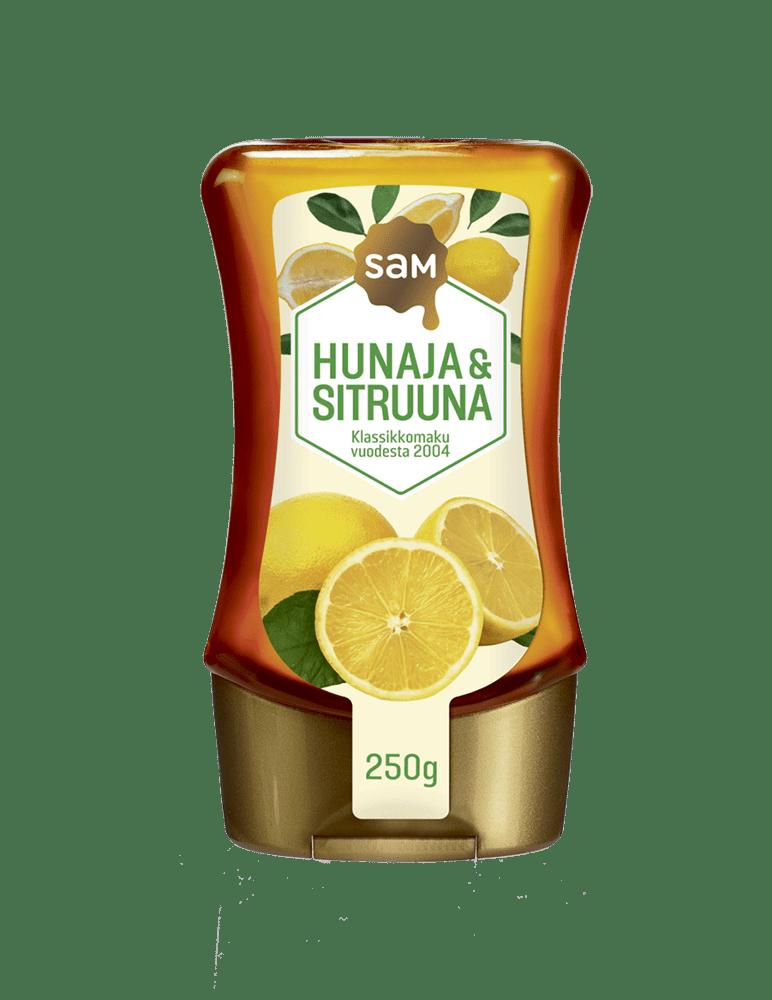 Hunajainen Sam | Suomen monipuolisin hunajavalikoiva | Hunaja & Sitruuna